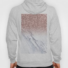 She Sparkles Rose Gold Marble Luxe Hoody