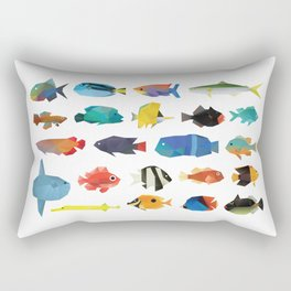 Tropical Fish chart Rectangular Pillow