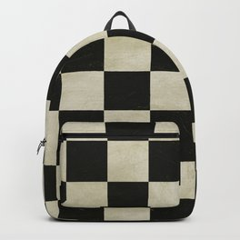Distressed Chessboard Backpack