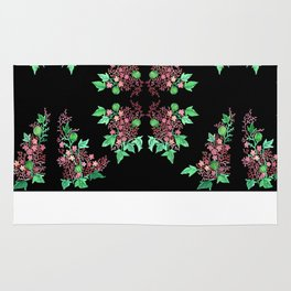 Red Coralline Flowers Rug