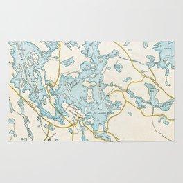 Vintage Muskoka Lakes Map Rug
