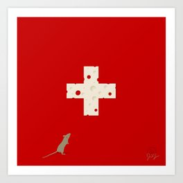 Swiss Cheese Flag Art Print