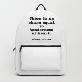 Tenderness of heart - Jane Austen Backpack