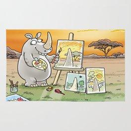 Rhino The Artist Rug