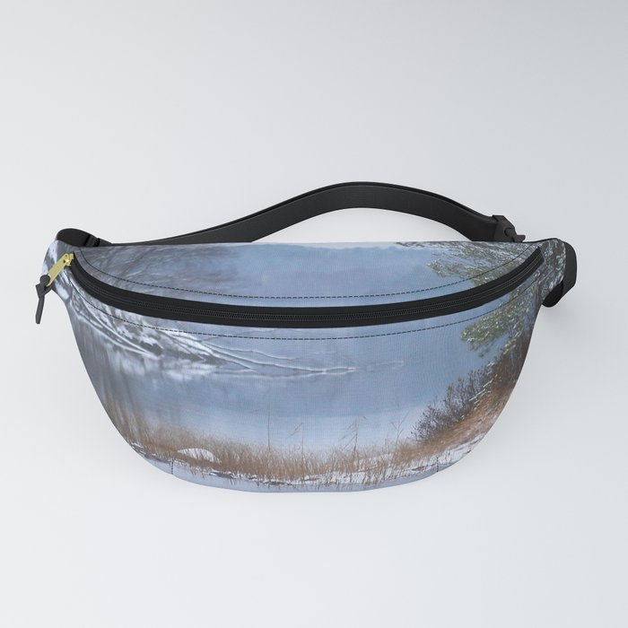Blue Moment By The Lake Fanny Pack