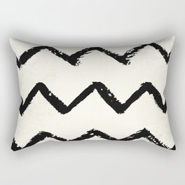 ZigZag Stripes on Ivory Rectangular Pillow