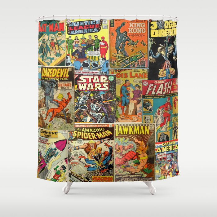 Comics Shower Curtain By Vivinicolin