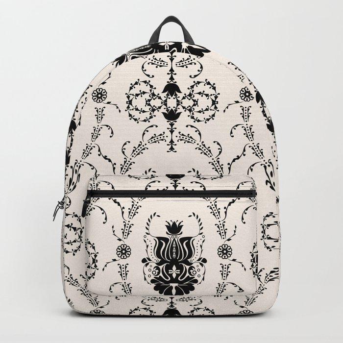 Seamless wallpaper background floral vintage Backpack