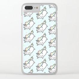 Cute Pastel Kawaii Cats Clear iPhone Case