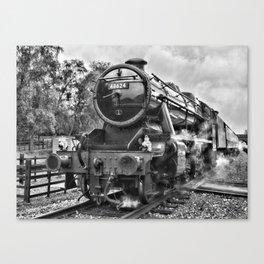 Stanier 48624 mono, landscape Canvas Print