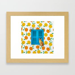 How Much is that Kitty in the Window? Framed Art Print