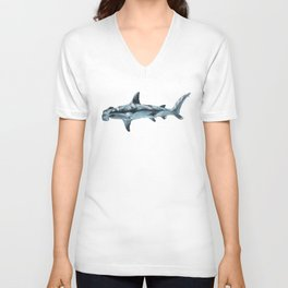 Great Hammerhead Shark Unisex V-Neck