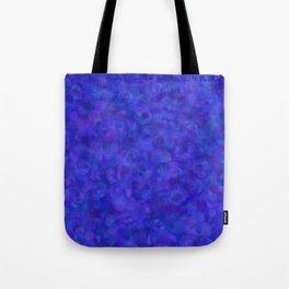 Royal Blue Floral Abstract Tote Bag