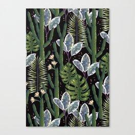 Tropical night dream. Canvas Print