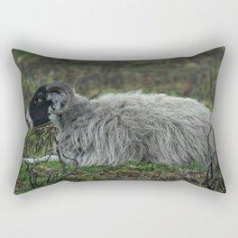 Scottish Blackface Sheep Rectangular Pillow