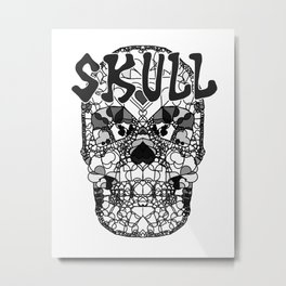 Skull - Día de Muertos / Day of the Dead Metal Print