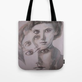 watercolor portrait of the Spirits in Her Head Tote Bag