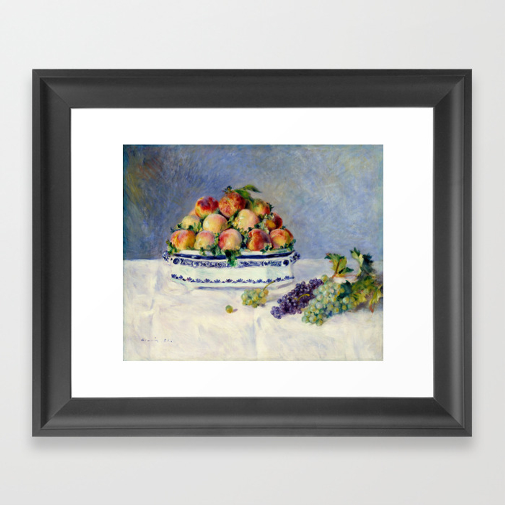"Auguste Renoir """"still Life With Peaches And Grapes… Framed Art Print by Alexandra_arts"" FRM9097175"