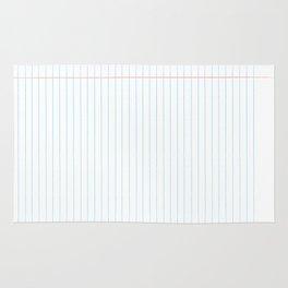 Notebook Paper Digital Watercolor School Chalk Rug