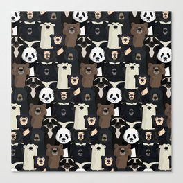 Bears of the world pattern Canvas Print