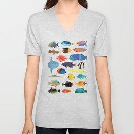 Tropical Fish chart Unisex V-Neck