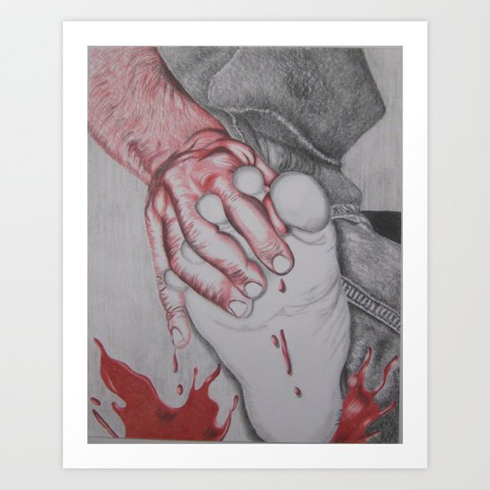 A Splash of Red Color Art Print