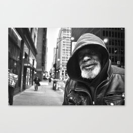 Homeless in Chicago Canvas Print