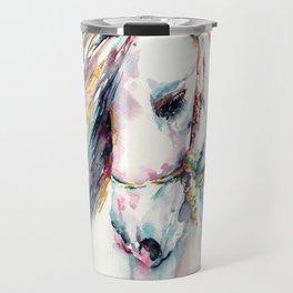 Fantasy white horse Travel Mug
