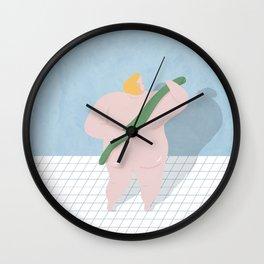 Scrub day Wall Clock