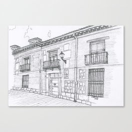 Streets of Alcalá Canvas Print