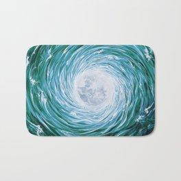 Full Moonscape - Green Bath Mat