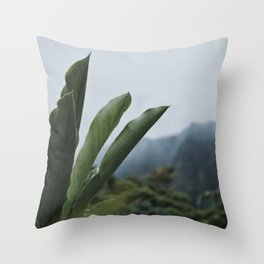 Rainforest Raindrops Throw Pillow