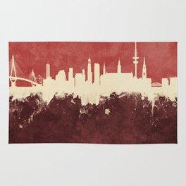 Hamburg Germany Skyline Rug