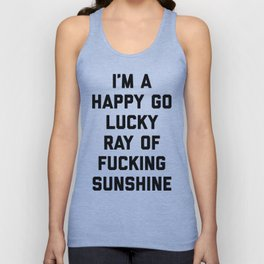 Ray Of Sunshine Funny Quote Unisex Tank Top