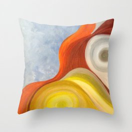 Cadmium Wave Throw Pillow