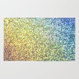Blue & Gold Glitter Ombre Rug