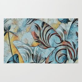A Butterfly Abstract Rug