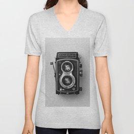 Rolliflex Camera Unisex V-Neck