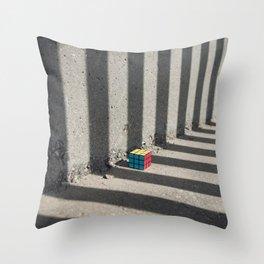 Rubik shading stripes Throw Pillow