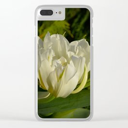 Double White Tulip by Teresa Thompson Clear iPhone Case