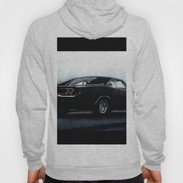 CLASSIC MUSCLE CAR DODGE CHARGER IN BLACK DURING FOG Hoody