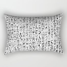 Hieroglyphics B&W / Ancient Egyptian hieroglyphics pattern Rectangular Pillow