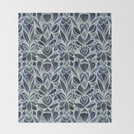 Ballpoint Pattern in Indigo Throw Blanket