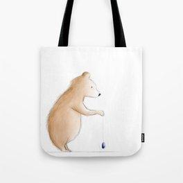 Bear with Yoyo Tote Bag
