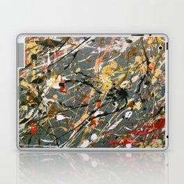 Jackson Pollock Interpretation Acrylics On Canvas Splash Drip Action Painting Laptop & iPad Skin