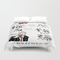 shaun of the dead Duvet Covers featuring Shaun of the Dead by Rob O'Connor