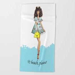 Beach girl Beach Towel