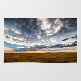 After the Storm - Spacious Sky Over Field in West Texas Rug