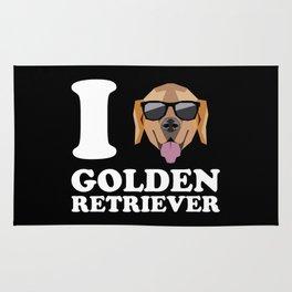 I Love Golden Retriever modern v2 Rug