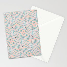 Palm Leaves Coral Stationery Cards